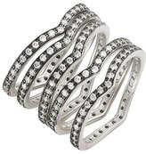 Freida Rothman Women's 'Contemporary Deco' Stacking Rings (Set Of 5)