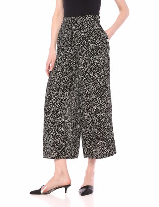 Obey Junior's ALMA Cropped Pant Black/White Large