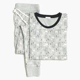 J.Crew Factory Printed ribbed knit sleep set