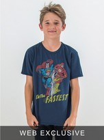 Junk Food Clothing Kids Boys I'm The Fastest Tee-new Navy-s