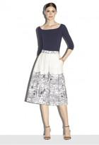 Milly Firenze Print Button Down Midi Skirt
