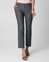 Le Château Crosshatch Denim Slim Leg Crop Pant