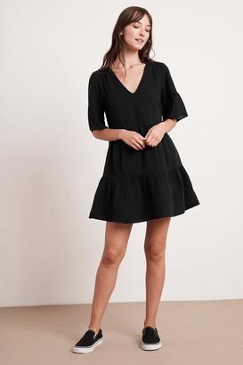 Velvet by Graham & Spencer Chesney Cotton Gauze Ruffle Dress