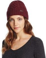 Barbour Lambswool Cuffed Cable Beanie
