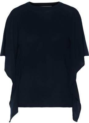 Valentino Draped Cashmere And Silk-blend Sweater