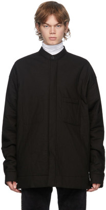 Haider Ackermann Black Quilted Oversized Shirt Jacket