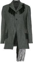 Area Di Barbara Bologna - 'Fringe blazer' - women - Linen/Flax - 40