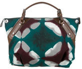 Marni Leather-Accented Canvas Satchel