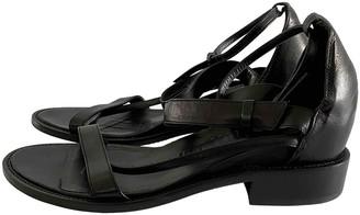 A.F.Vandevorst Black Leather Sandals