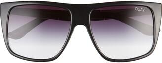 Quay Incognito 56mm Gradient Flat Top Sunglasses