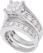 Macy's Diamond Channel-Set Bridal Set (4 ct. t.w.) in 14k White Gold
