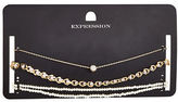 Expression Three-Pack Faux-Pearl Chain Choker Set