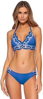 Becca by Rebecca Virtue Delilah Avery Halter Top (Coral Crush) Women's Swimwear