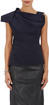 Narciso Rodriguez Women's Gathered Sleeveless Blouse-NAVY