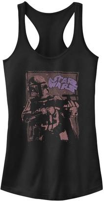 Star Wars Juniors' Boba Fett Distorted Portrait Tank
