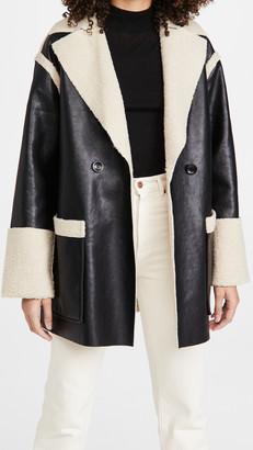 Proenza Schouler White Label Faux Sherpa Reversible Coat