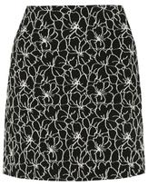 George Floral Patterned Jacquard A-Line Skirt