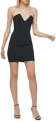 Cushnie Pleated Mini Dress