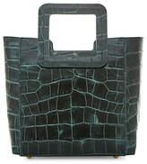 STAUD Mini Shirley Croc-Embossed Leather Tote