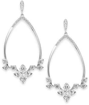 Eliot Danori Crystal Front-Facing Drop Hoop Earrings, Created for Macy's