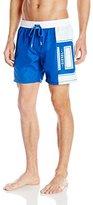 Diesel Men's Mark-E Logo Colorblock Swim Short