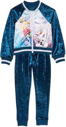 Disney Toddler Girls 2-Pc. Frozen Velvet Jacket & Jogger Pants