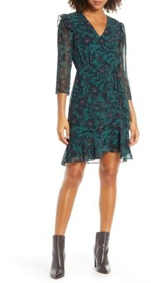 Sam Edelman V-neck Side Ruched Dress