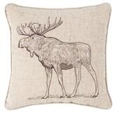 Marco Moose Cotton Throw Pillow Millwood Pines