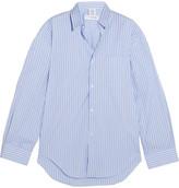 Vetements Comme Des Garçons Oversized Striped Cotton-poplin Shirt - Blue
