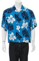 Prada Floral Print Camp Collar Shirt