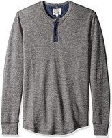 Lucky Brand Men's Thermal Henley in Heather Gray