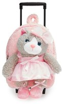 Infant Popatu 'Ballet Kitty' Rolling Backpack - Pink