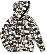 Boys' Allover Words Graphic Hooded Sweatshirt, Size 3-5
