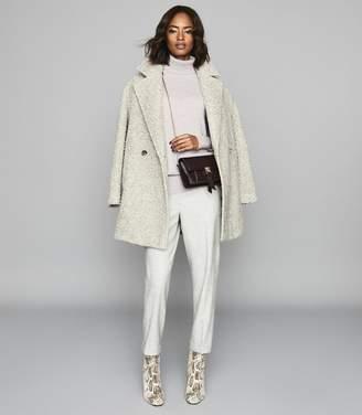 Reiss Clio - Cashmere Rollneck Jumper in Grey