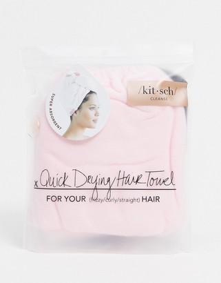 Kitsch Microfiber Hair Towel - Blush-No color