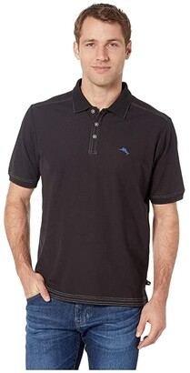 Tommy Bahama Emfielder 2.0 Polo (Black) Men's Clothing