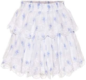 LoveShackFancy Ruffle cotton miniskirt