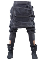 'big Baggy Cube' Cotton Canvas Trousers