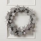 west elm Kraft + Glitter Stars Wreath - Silver