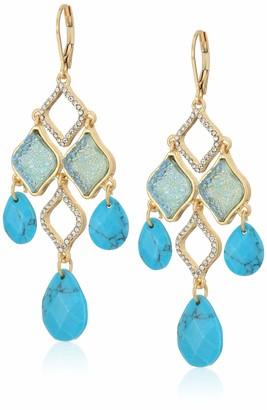 lonna & lilly Women's Stone Chandelier Gold Drop Earrings