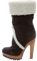 Dolce & Gabbana Shearling Ankle Boots