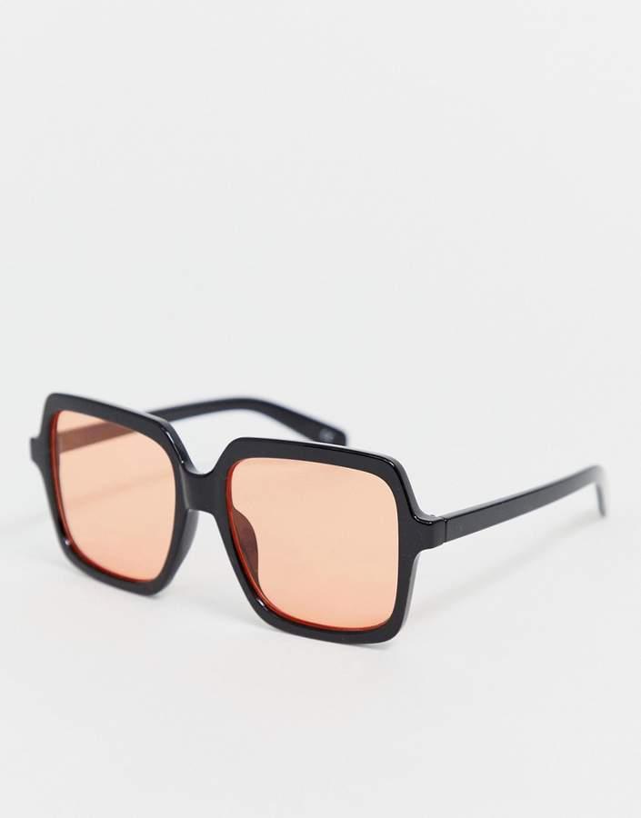 Asos Design DESIGN 70's square oversized frame fashion glasses