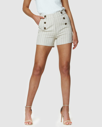 Amelius - Women's Shorts - Honour Pinstripe Shorts - Size One Size, 14 at The Iconic
