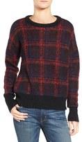 Current/Elliott Plaid Crewneck Sweater