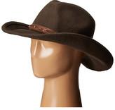 """San Diego Hat Company WFH7940 3.5"""" Brim Wool Felt Cowboy with Grommets"""