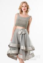 Terani Prom - Stunning Beaded Bateau Neck Polyester Tea length Dress 1521H0101A