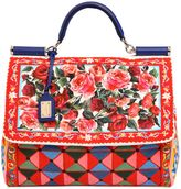 Dolce & Gabbana Large Sicily Soft Printed Canvas Bag