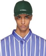 Vetements Green Logo Baseball Cap