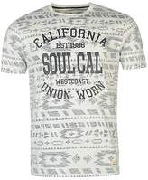 Soul Cal SoulCal Mens Deluxe Reverse Aztec T Shirt Tee Top Short Sleeve Crew Neck Summer