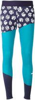 adidas by Stella McCartney Run printed tights - women - Recycled Polyester/Spandex/Elastane - M